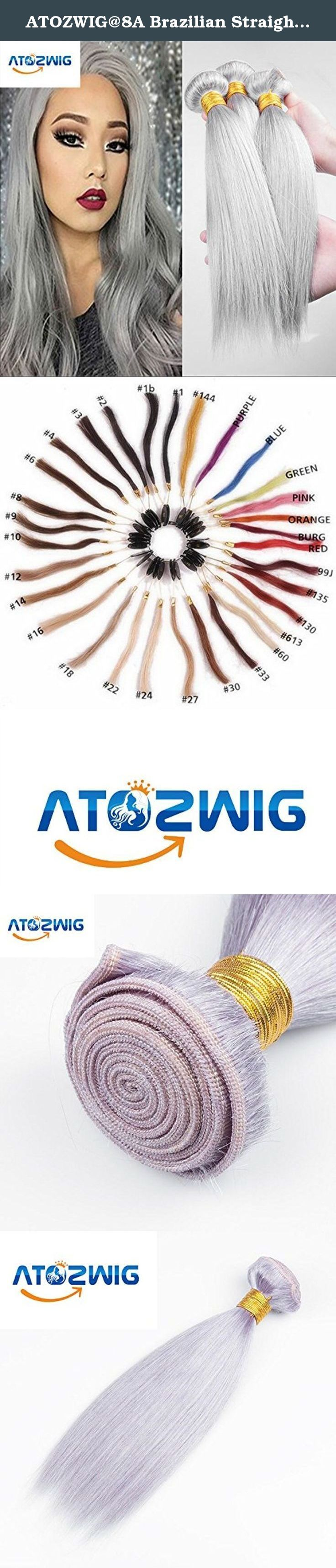 ATOZWIG@8A Brazilian Straight Virgin Hair Platinum Grey hair extension 3Pcs Human Hair Extensions Silver Grey Hair Weaves Fast Shipping 50G/Bundle. We carry only 100% RAW Virgin human hair collected from around the world. It is then shipped to our own factory where it is assembled and packaged. This is how we are able to provide a product with the strictest quality standards for an unbeatable price. Our REAL TRUE Virgin human hair is completely natural and no chemical processes are used…