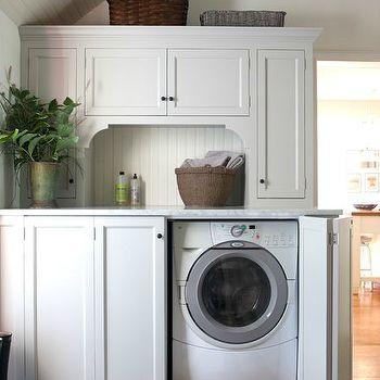 Hidden Washer and Dryer, Cottage, laundry room, Sage Design