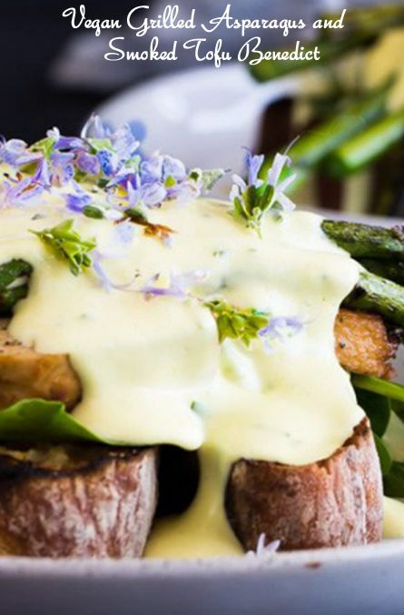 Meatless Monday with Vegan Grilled Asparagus and Smoked Tofu Benedict