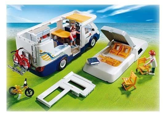 Playmobil -Grand camping-car familial - 4859 - Toit amovible