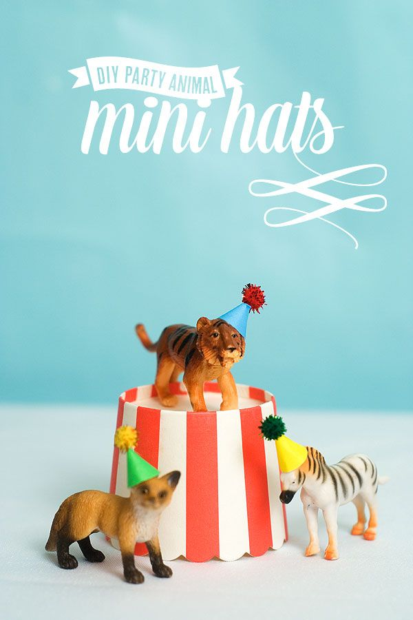 DIY Mini Animal Party Hats