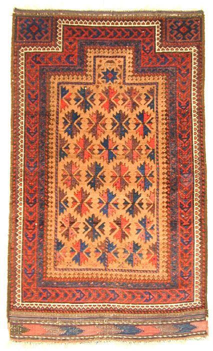 Baluch Prayer Rug  111.8cm(H) x 66cm(W)  RegionL: West Asia ? Persia ? Northeast Persia ?  19th century (1800 - 1899)  $ 2,800.00