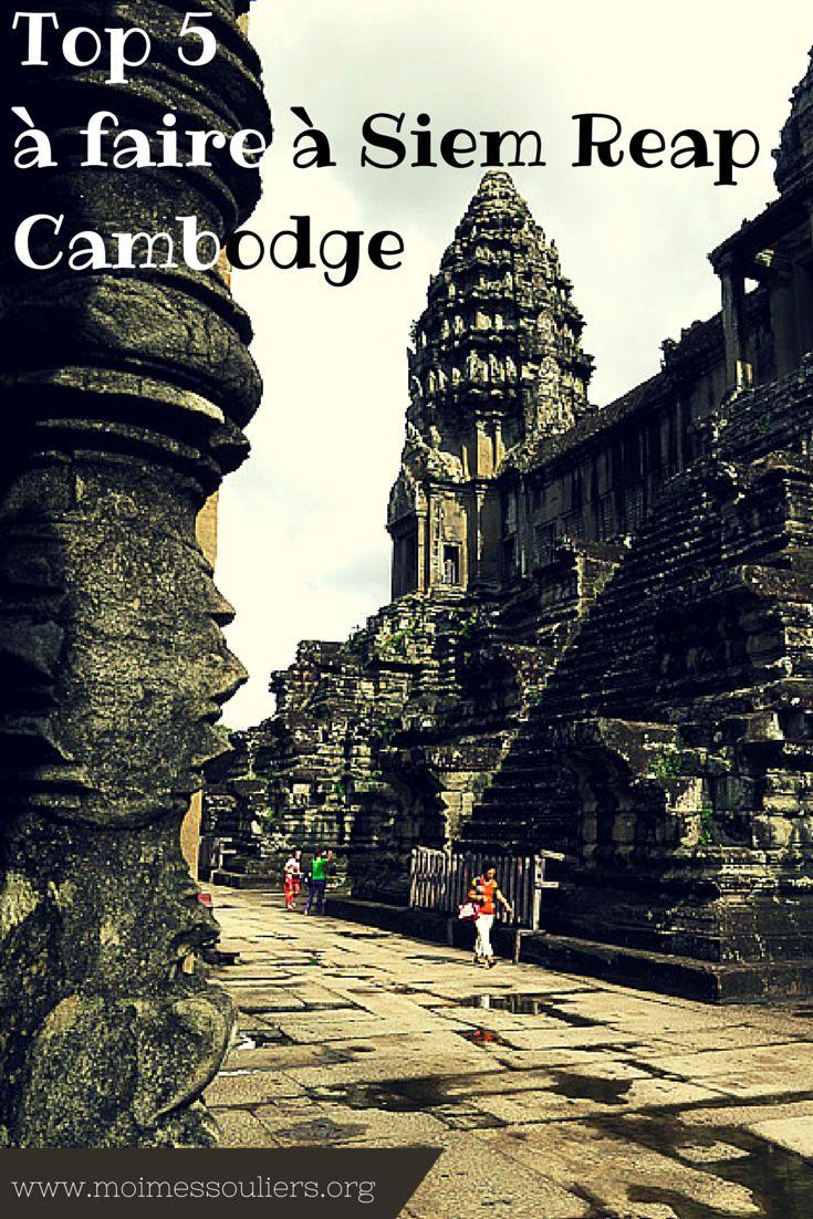 Siem Reap, la reine du Cambodge. Une ville bien connue pour ses temples d'Angkor, mais qui offre tellement plus que ça! Voici les incontournables à visiter à Siem Reap!