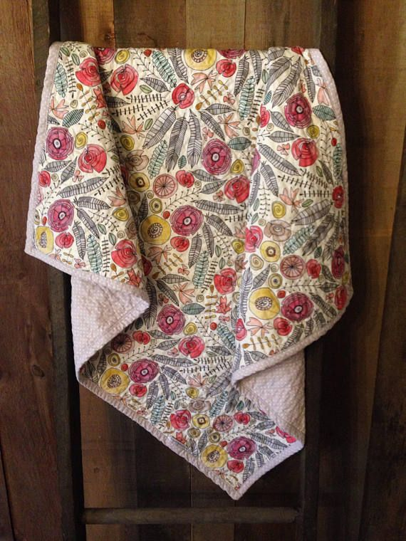 Floral Wholecloth Quilt