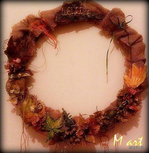 Φθινοπωρινό στεφάνι Autumn wreth