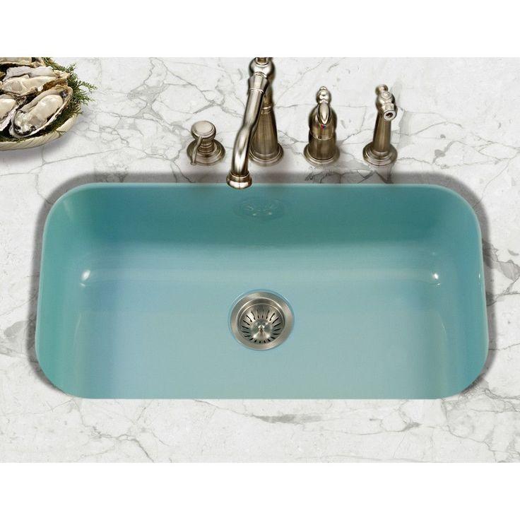 Porcela 30 9 X Porcelain Enamel Steel Gourmet Undermount Single Kitchen Sink Steel