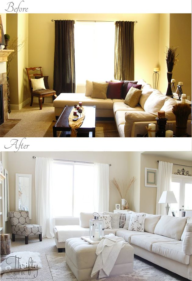 Living room before and after...lots of other before and afters too