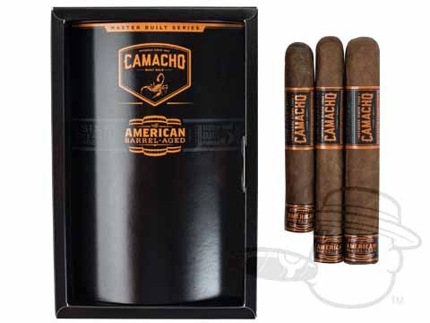 Camacho American Barrel-Aged Assortment Sampler Various Sized Cigars—Sealed Pack of 3 - Best Cigar Prices