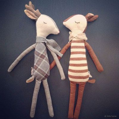 Renne-medium-maileg et bambi MAILEG. Doudou Peluche. Cadeau de naissance original. Livraison soignée.