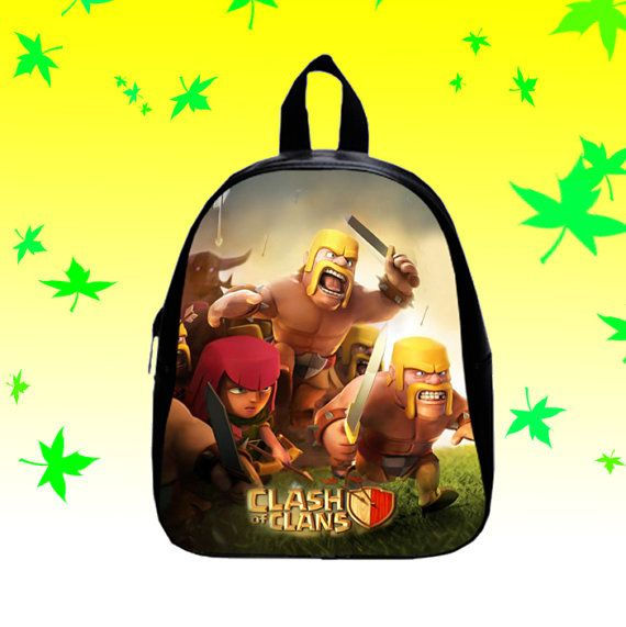 Game Clash of Clans  Backpack/SchoolBags for Kids. by FACIALBAG
