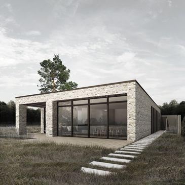 BAKS ARKITEKTER - Palmgreen House i Risskov, Danmark. Nordic architecture, house, design, scandinavian, brick