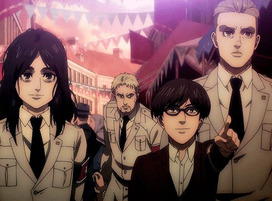 Porco Gaillard and Pieck Finger in episode 53 : フォーゲルイムケーフィヒ in 2021 | Attack on titan anime ...