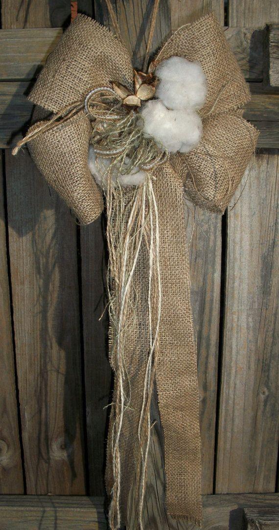 Wedding Bride Decorative Bows Burlap by BlissfulBashfulBride, $23.99