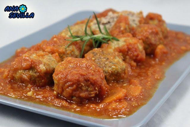 Albóndigas en salsa de tomate Ana Sevilla olla GM