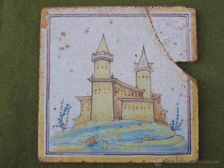 Azulejos Para Baños En Talavera Dela Reina:AZULEJO ANTIGUO DE TALAVERA DE LA REINA – CERAMICA RUIZ DE LUNA 1 / 3