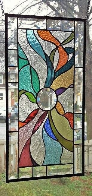 **BEYOND the BEVEL** Stained Glass Window Panel (Signed and Dated)