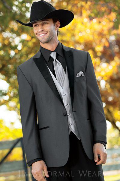 Tony Bowls Gray Portofino Slim Fit Western Tuxedo Style301