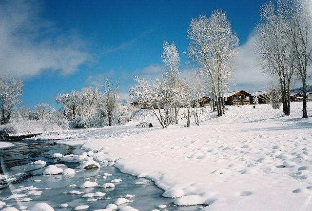 Winter scene in downtown pagosa springs co winter in for Fireside cabins pagosa