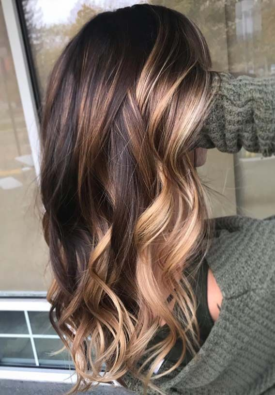 Amazing Brunette Balayage Hair Color Highlights in 2019