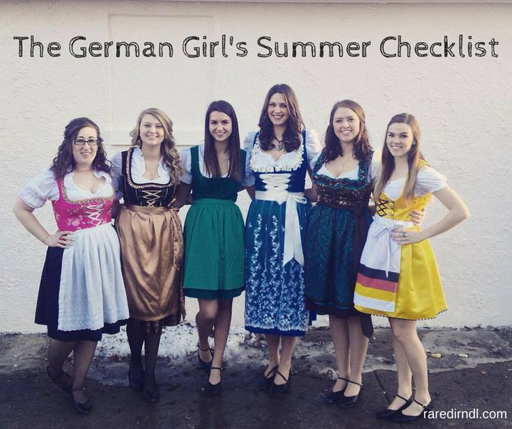 German Girls Summer Festival Checklist -- From Rare Dirndl / RareDirndl.com