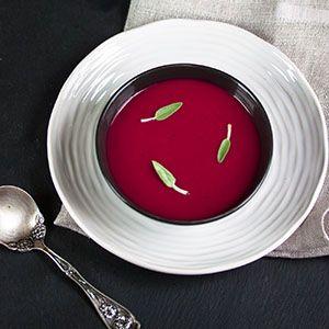 Supa crema de sfecla rosie coapta cu mar