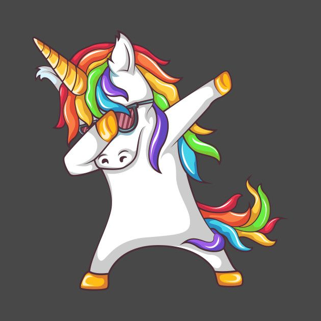 Dabbing Unicorn Dabbing T Shirt Teepublic Unicorn Painting Unicorn Art Unicorn Pictures