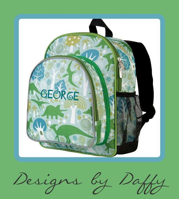 Personalized Backpack  DInosaur  Monogrammed by DesignsbyDaffy, $29.95
