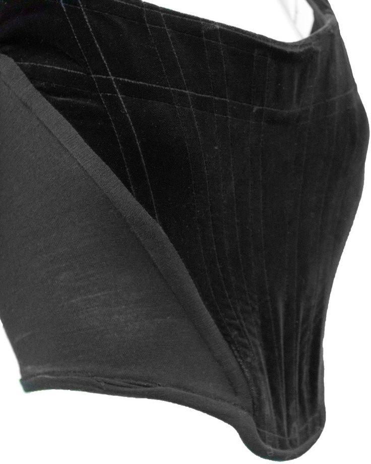 1980's Vivienne Westwood Black Velvet Bustier 3