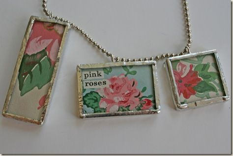 Vintage Wallpaper Jewelry  DIY Crafts