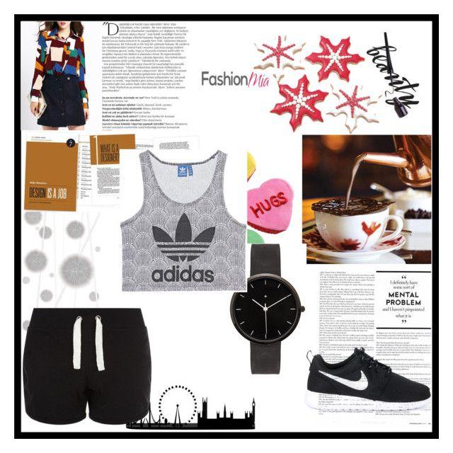 """""""Sportovní oblečení"""" by jana-zy on Polyvore featuring I Love Ugly, adidas Originals, NIKE, Balmain and Komar"""