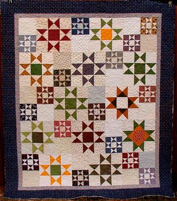 Creative ideas for you: Twenty-Six Free Scrappy Quilt Patterns RANDOM STARS