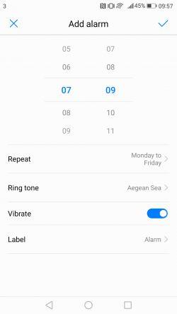 Huawei mate 9 alarms 7