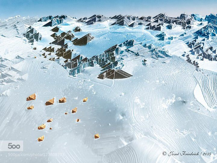 Micro ski resort with a mountain scenery http://ift.tt/1PaOpZg This false coloured scanning electron micrograph which evokes a ski resort with a mountain scenery shows the surface morphology of a semiconductor material called copper indium gallium diselenide or Cu(InGa)Se2. By combining different semiconductor materials together it is possible to generate devices with special electrical properties such as the solar cells. The solar cells are electrical devices that converts the energy of sun…