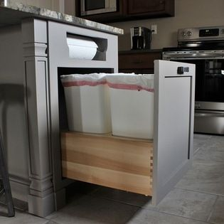 Trash can and paper towel storage - craftsman - Kitchen - Philadelphia - CDH Designs