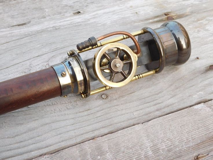 Steam Engine Model Wooden Walking Cane Stick
