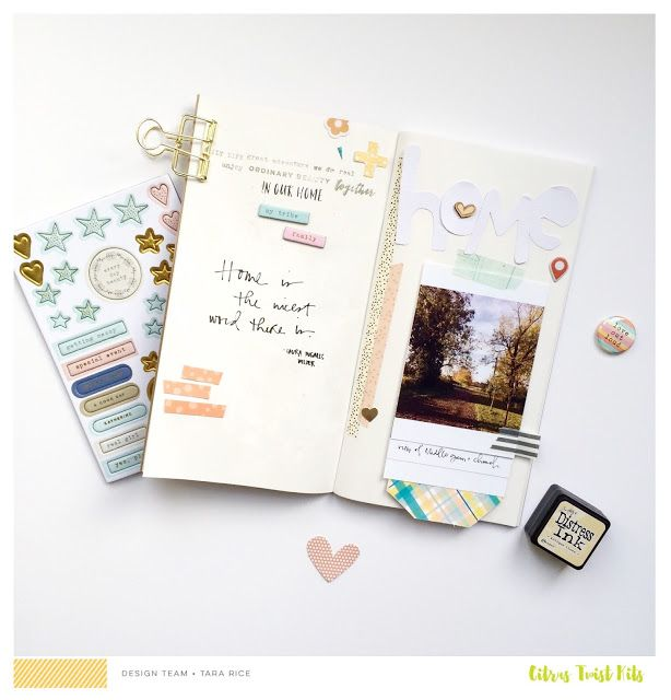 Citrus Twist Kits: Pocket Life Sketch Friday November 18, 2016 Traveler's Notebook with Tara Rice