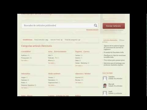 Demostración Video Sistema Web para Directorios Autoadministrable
