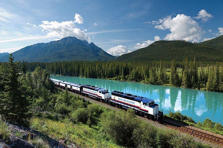 rocky dağları nehir tren yolculuğu