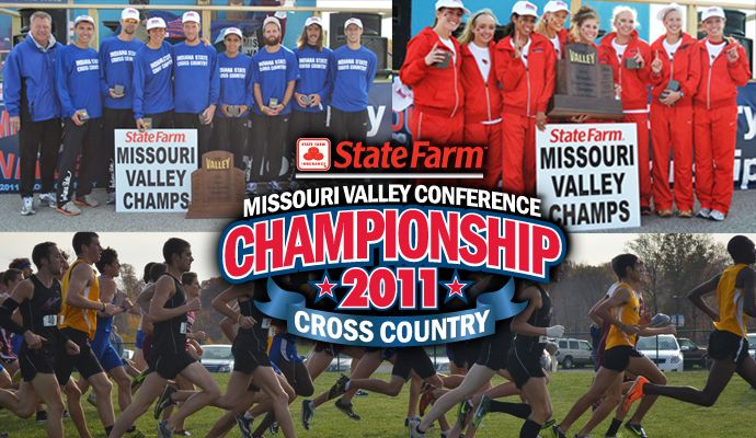 2011 State Farm MVC Cross Country Champions: Indiana State (M) and Illinois State (W): Indiana States, Illinois States, 2011 States, States Farms, U.S. States