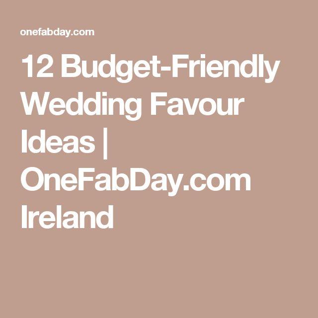 12 Budget-Friendly Wedding Favour Ideas   OneFabDay.com Ireland