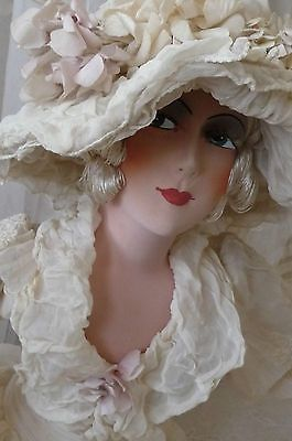 ANTIQUE FRENCH BOUDOIR DOLL PARIS C.1920 EDWARDIAN FASHION DOLL HAT