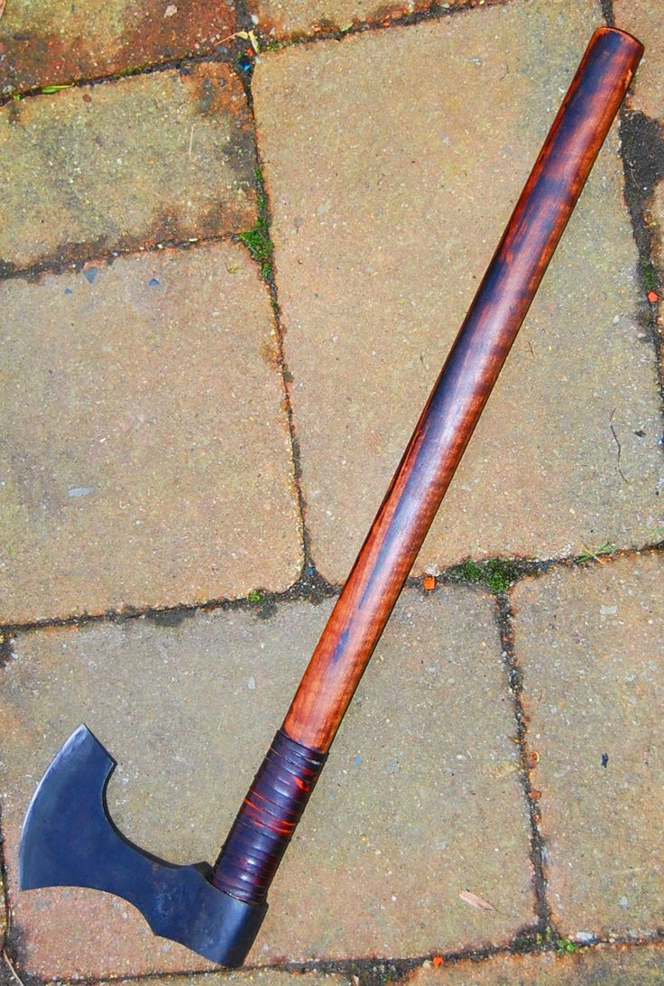 """customer's order viking 's axe blade of 4.8"""" forged in 1075 carbon steel with selective temper , head lenght of 7.4"""" www.aufildelalame.fr"""