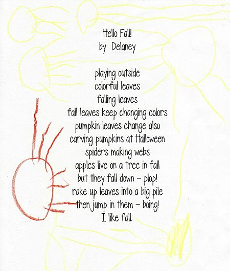 Write a list poem - perfect for young kids! // Let's Explore