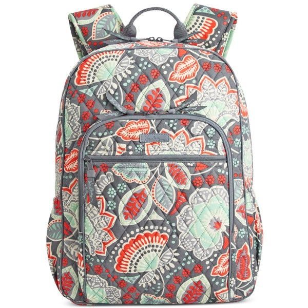 Vera Bradley Campus Backpack ($109) ❤ liked on Polyvore featuring bags, backpacks, nomadic floral, floral print backpack, vera bradley backpack, quilted backpack, vera bradley and floral bag