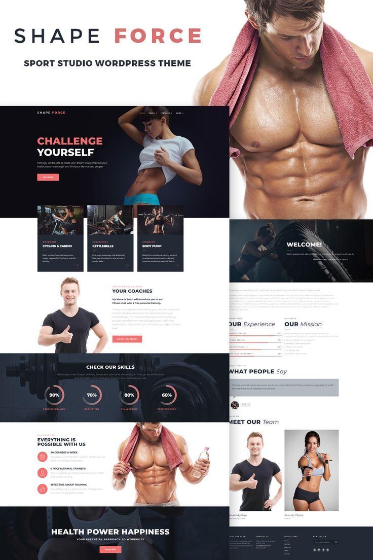 ShapeForce – Sport Studio WordPress Theme
