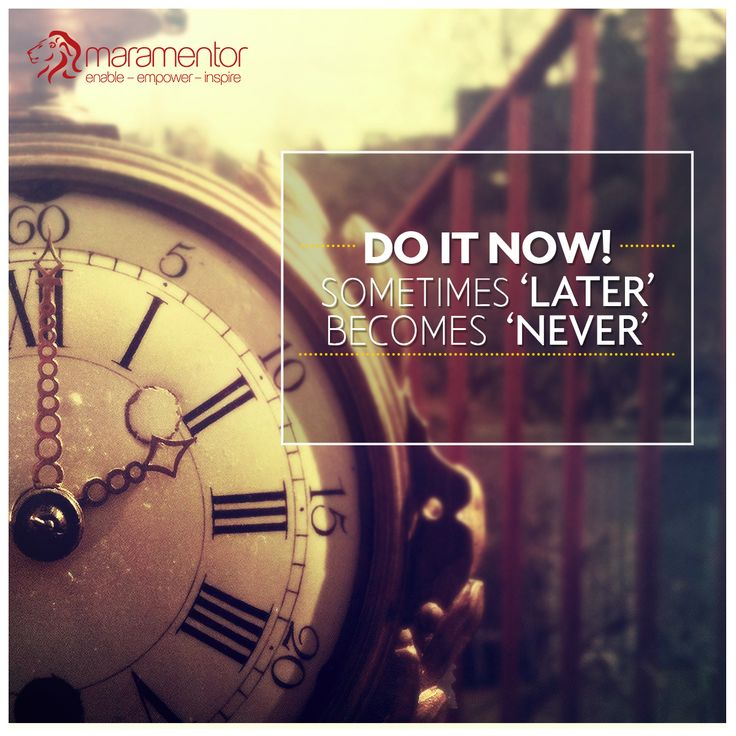 Overcome your fear of failing and  get started  now  with  the expert guidance at #MaraMentor https://mentor.mara.com/