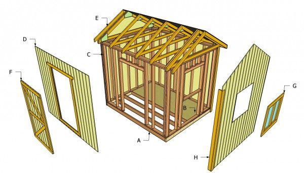 BYE BYE OLD SHED! Building an outdoor shed - 8 x 10 simple instructions for basic idea.
