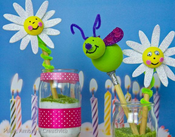 margherite e coccinelle, attività di gruppo per un fun crafty party