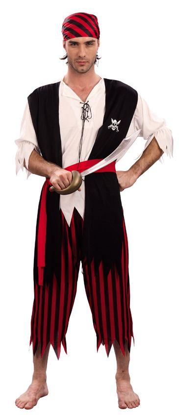 Piratenkostuum voor mannen : Vegaoo Volwassenen Kostuums