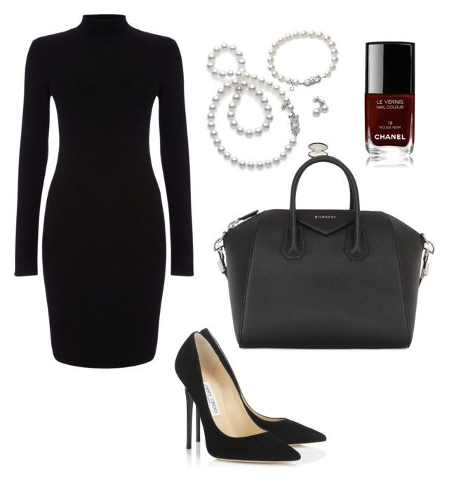 """""""Untitled #6"""" by hongjina on Polyvore featuring Phase Eight, Mikimoto, Jimmy Choo, Givenchy, Chanel, women's clothing, women's fashion, women, female and woman"""
